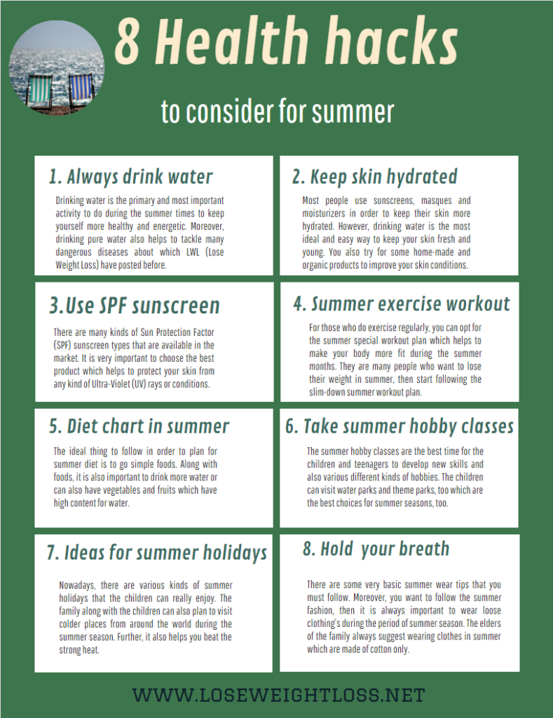 8 Summer Health Tips You Should Follow To Stay Healthy Lose Weight