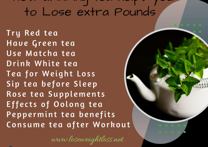 Ways to lose weight by drinking tea