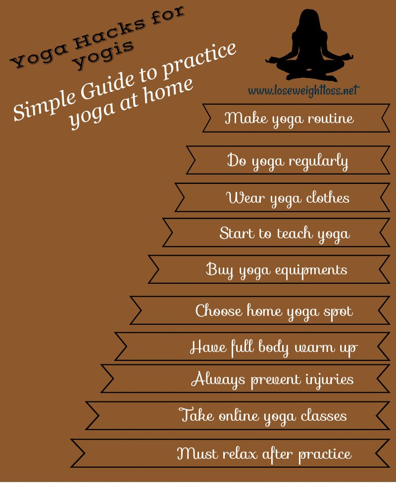 Simple guide to practice yoga at home