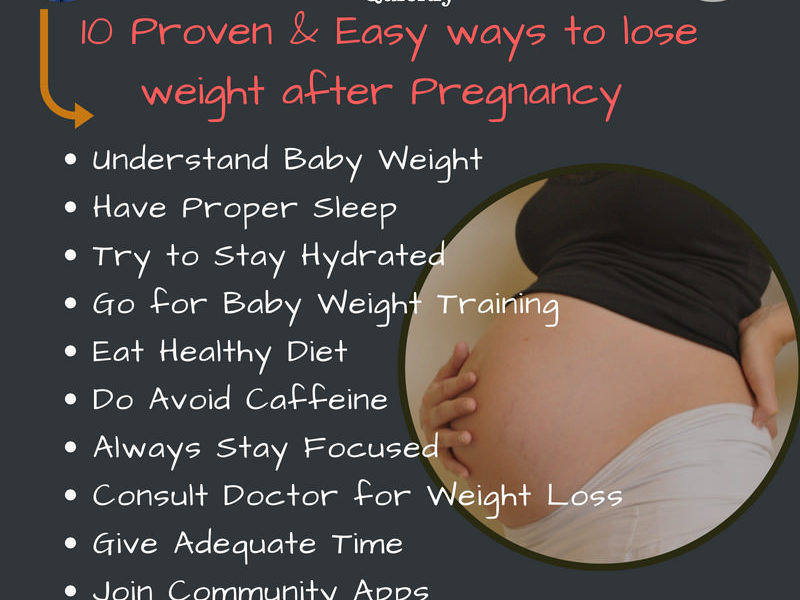 ways to lose weight after pregnancy