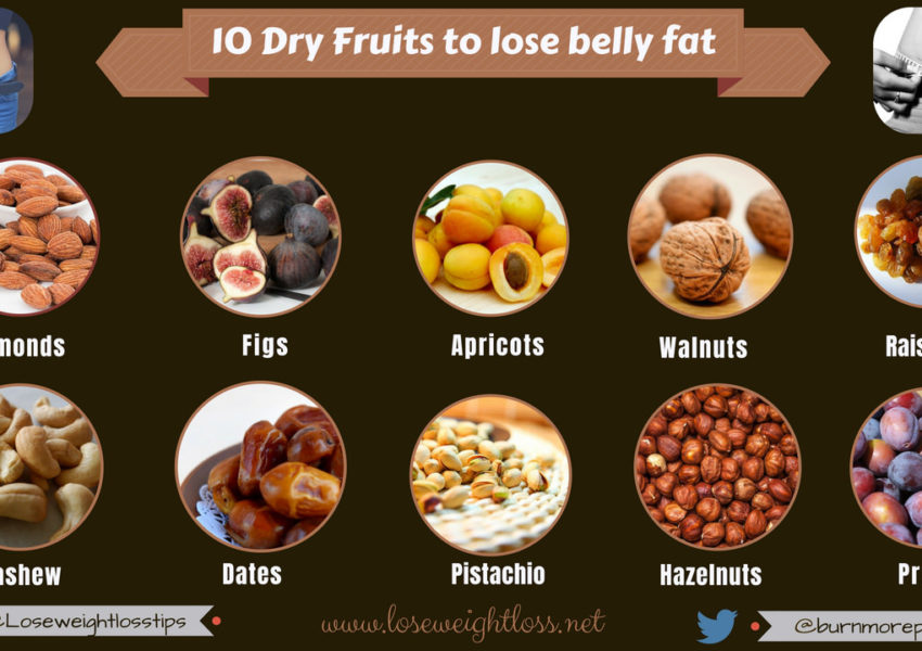 10 Dry Fruits to lose belly fat faster