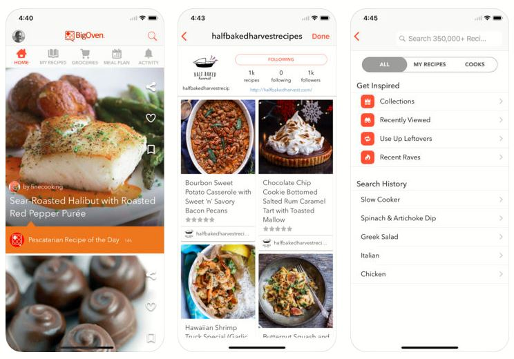 Best food recipe and cooking apps for iPhone and android