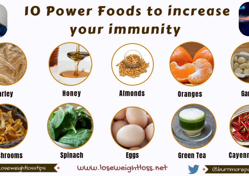 10 Power Foods to increase your Immunity