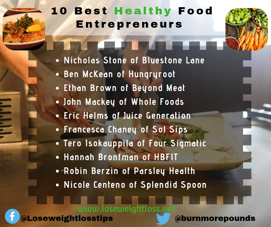 10 Best Healthy Food Entrepreneurs to Know