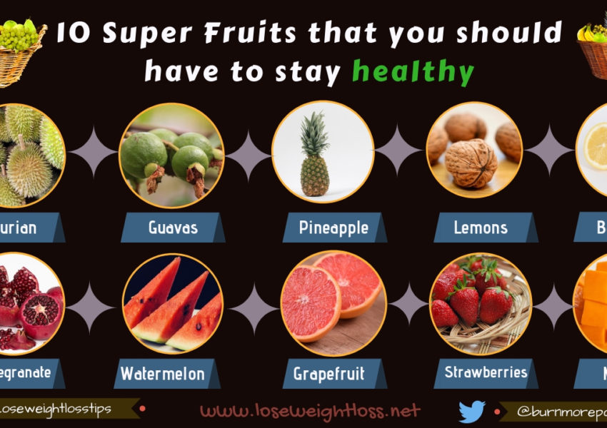 10 Superfruits to Stay fit and healthy