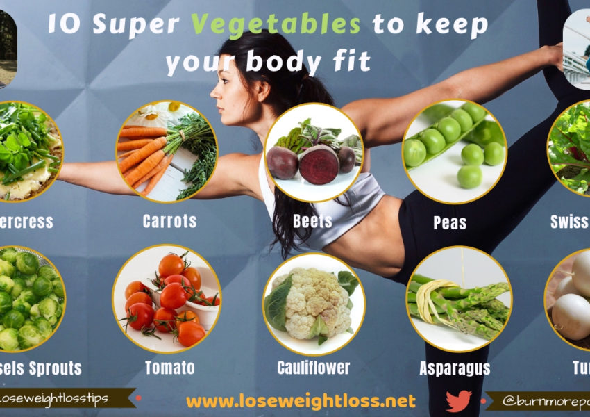 10 vegetables to stay fit and healthy