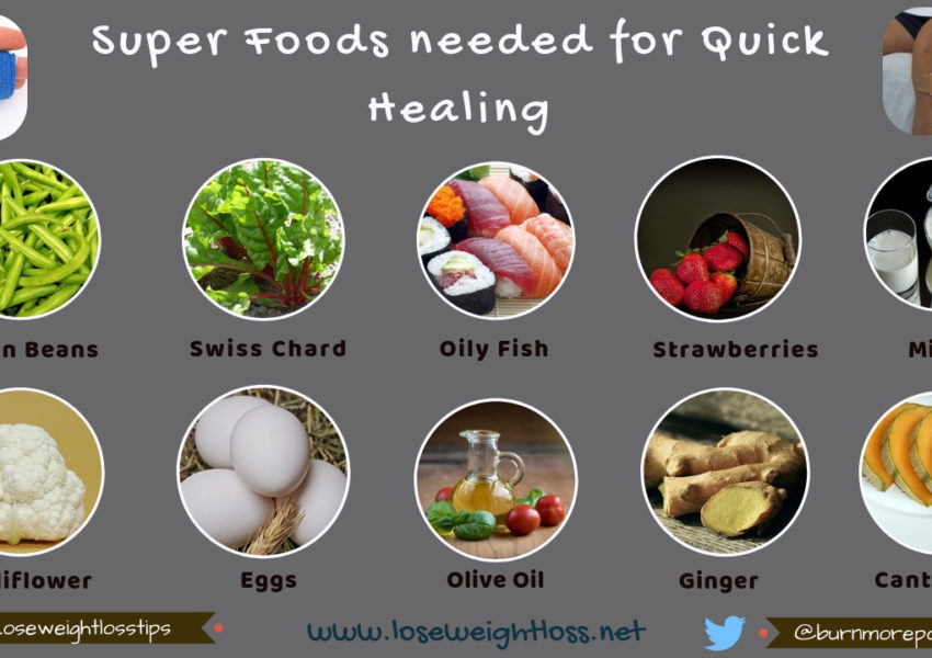 Super Foods needed for Quick Healing