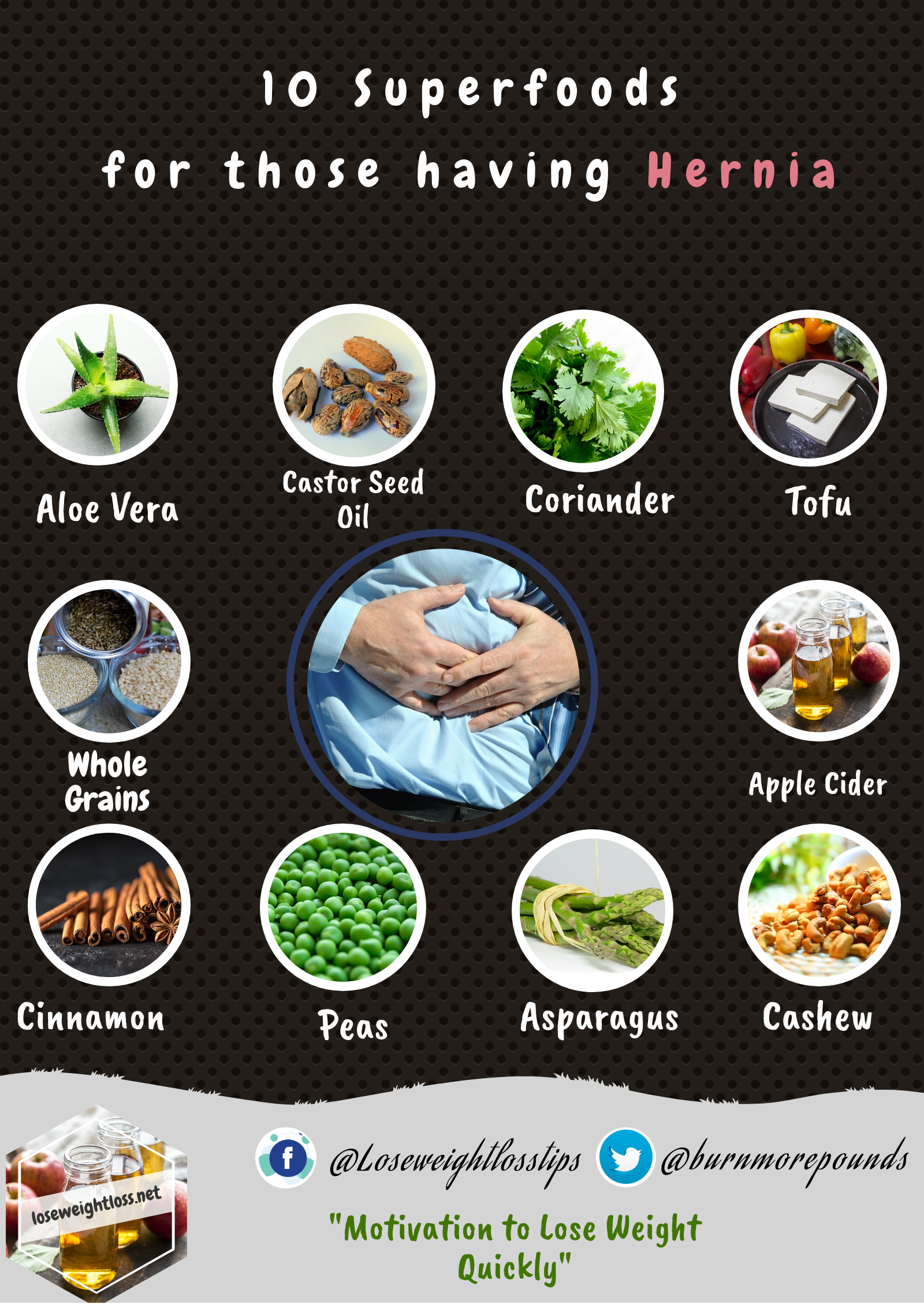 Superfoods for those having hernia
