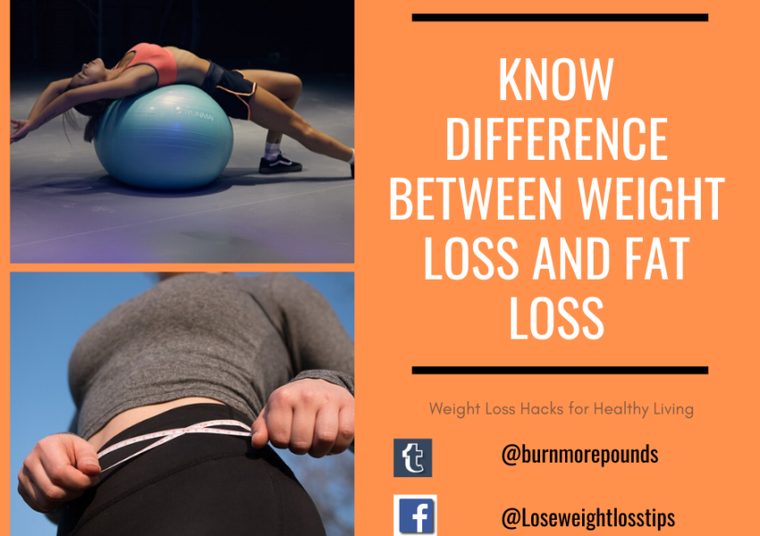 Know difference between Weight Loss and Fat Loss