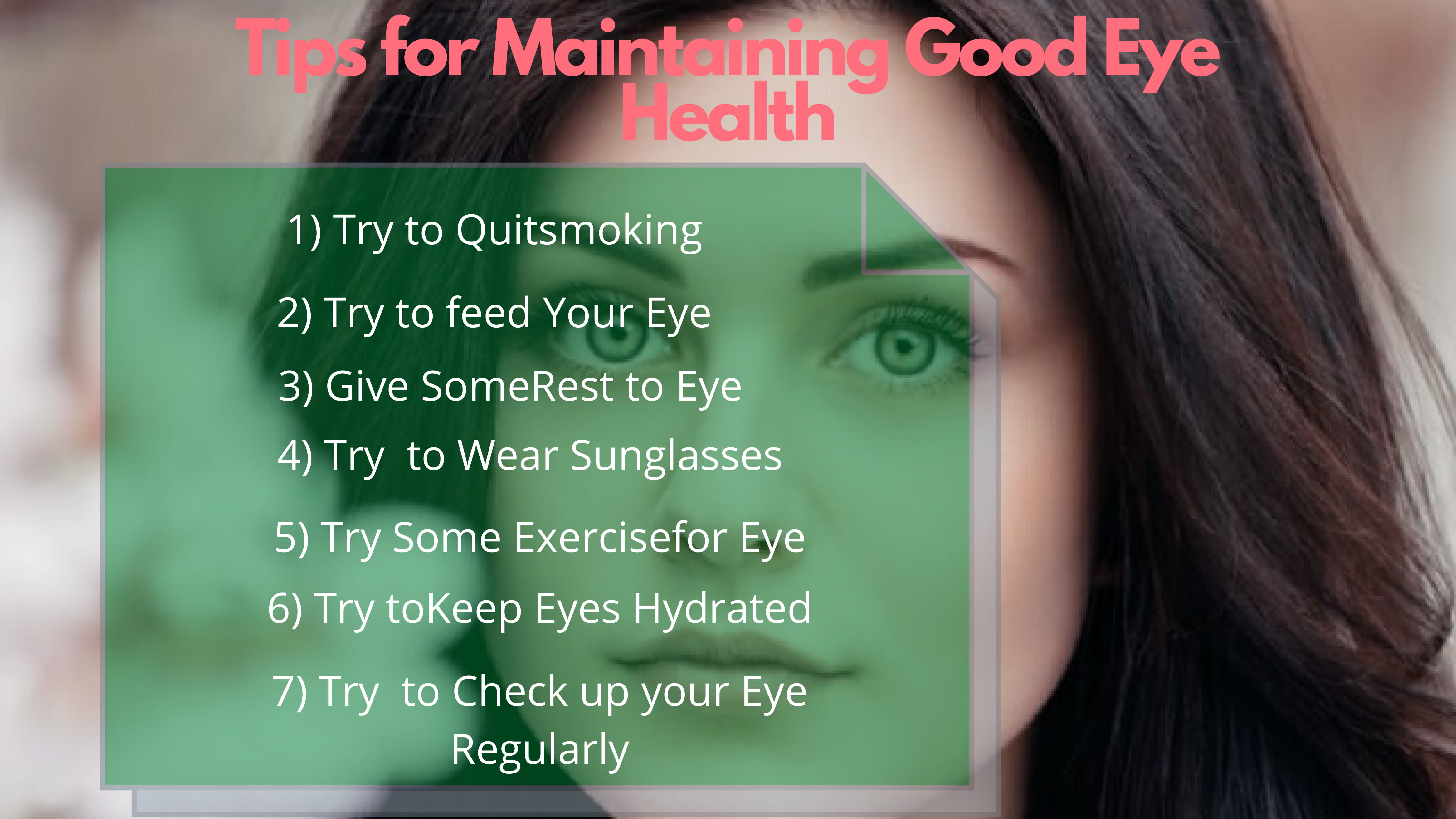 Tips for Maintaining Good Eye Health