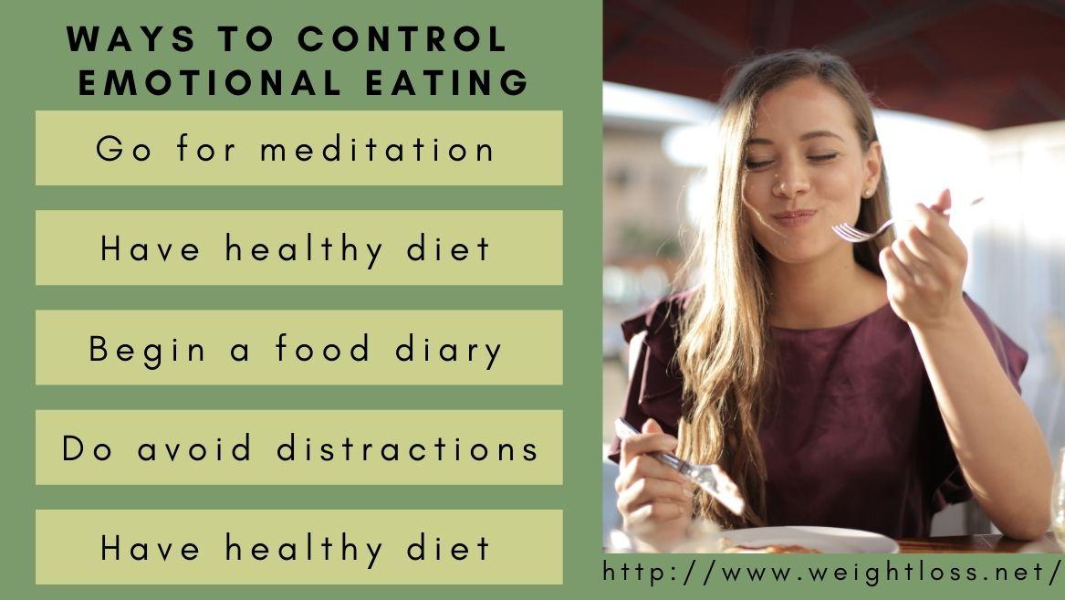 Ways to control emotional eating