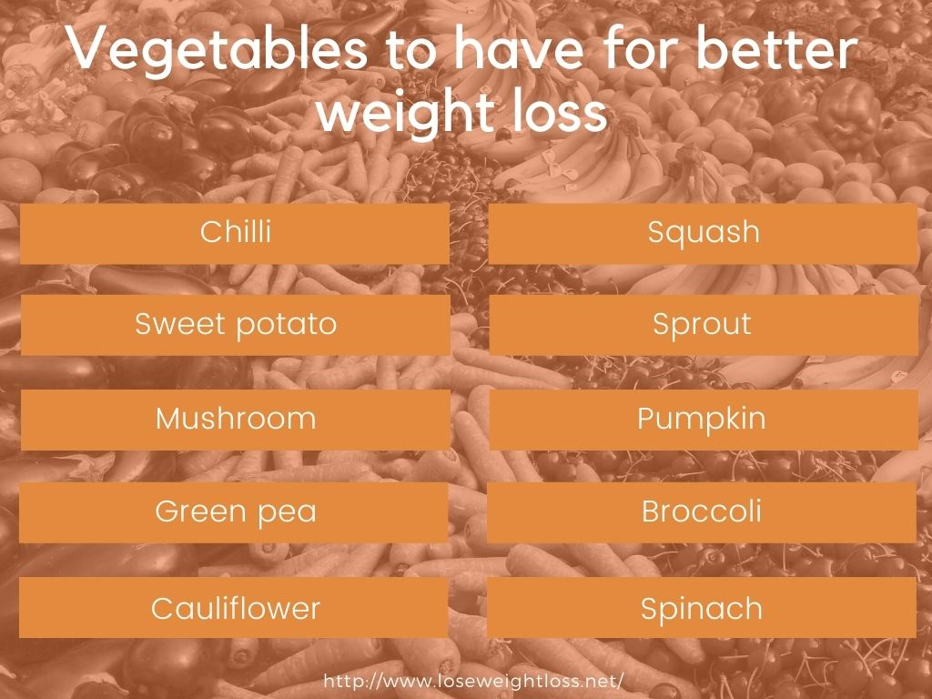 Vegetables to have for better weight loss