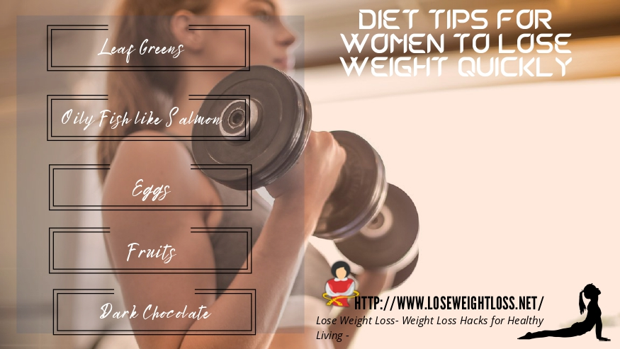 Diet tips for Women to Lose Weight Quickly